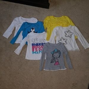Okie dokie 2T 5 long sleeve shirt bundle